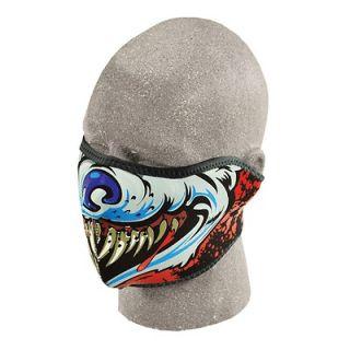 in 1 Reversible Motorcycle Biker, Ski Mobile Neoprene Half Face Mask