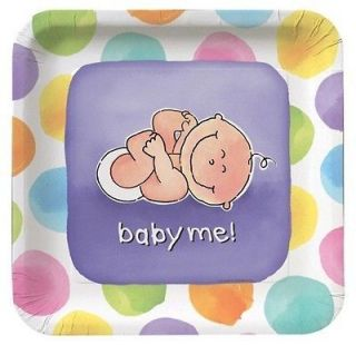 Baby Me 9 plates Great For a Girl or Boy Baby Shower