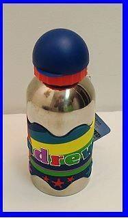 ANDREW PERSONALIZED WATER BOTTLE STAINLESS STEEL NAMESTAR GRIPPER NO
