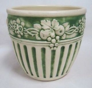 Weller Pottery Fruit and Flower Bordered Matte Finished 9 Jardiniere