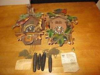 ANTIQUE GERMAN MADE CUCKOO CLOCKS BLACK FOREST 1945 TO 1953