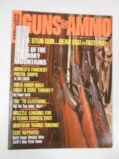 GUNS & AMMO MAGAZINE 1971 APRIL PISTOL GRIPS COOPER HANDGUNS