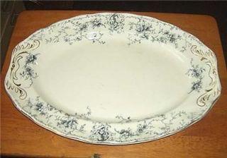 Antique Royal Doulton Burslem LARGE china serving platter YALE