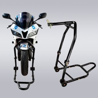 Motorcycle Triple Tree Front Center Head Lift Stand Under Fender
