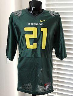 NIKE Oregon Ducks #21 NCAA Jersey sz XL X Large Green Twill Premium