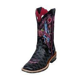 NIB ARIAT Rodeo Fat Baby Rocker Boots 10006763 Black