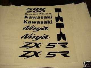 Kawasaki Ninja ZX5R 500 decal kit 09 08 07 06 05 04 03