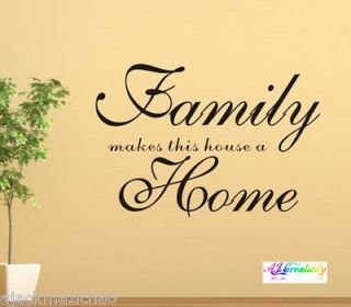 Family Makes Home Wall stickers wall Decal Removable Vinyl Windows