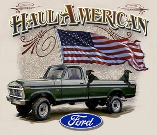 Ford Trucks Haul American Natural Adult T shirt