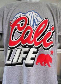 CALI LIFE T SHIRT CALIFORNIA WEST COAST SO CAL NOR CAL