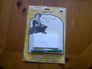 PEARS SOAP ADVERTISEING VTG METAL SIGN MAGNETIC PAD & PEN NEW!! MADE