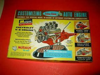 OLD 1960 MONOGRAM AUTO 283 CHEVY ENGINE MODEL KIT