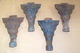 Antique Vintage Cast Iron ROUND OAK Parlor Wood Stove Legs Feet