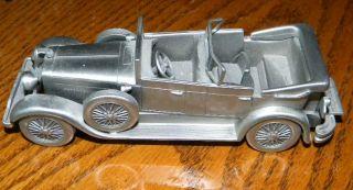 VINTAGE DANBURY MINT 1928 LINCOLN CONVERTIBLE PEWTER MODEL CAR  NICE
