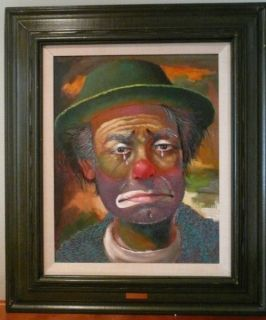 Paintings sad clown painting