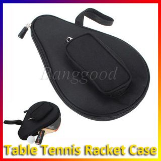 Waterproof Table Tennis Racket Ping Pong Paddle Bat Bag Pouch with
