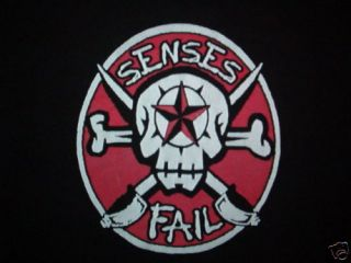 SENSES FAIL CONCERT SHIRT tour skull Large