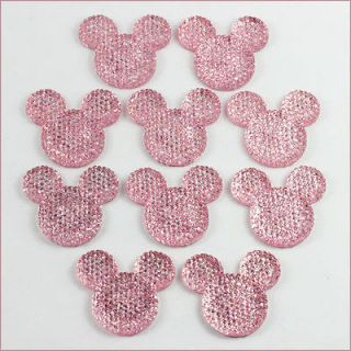 Minnie Mouse Shape Resin Flatback Hair Bow Center Scrapbooking Crafts