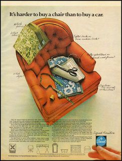 Vintage ad for Signed Furniture by Drexel/orange chair/ (102312