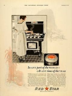 1921 Ad Red Star Detroit Vapor Oil Stove Appliances   ORIGINAL