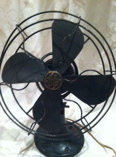 Antique GE GENERAL ELECTRIC Oscillating Fan VINTAGE ART DECO