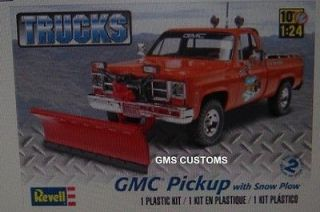 Revell Model kit GMC PICKUP W/ SNOW PLOW BUILDER KIT FS 1/24 GMS