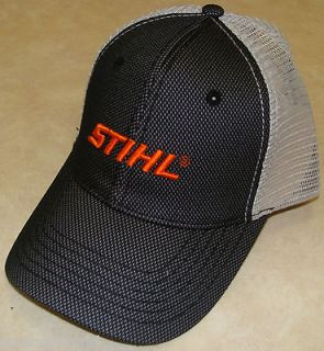 Mens Black & Gray Mesh Hat with Embroidered Stihl Logo   8401149