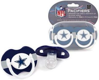 Dallas Cowboys Logo Baby Pacifier in Teams Colors (2 pack) NFL