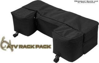 NEW BLACK ATV PACK LUGGAGE RACK BAG STORAGE GEAR BAGS (62101)