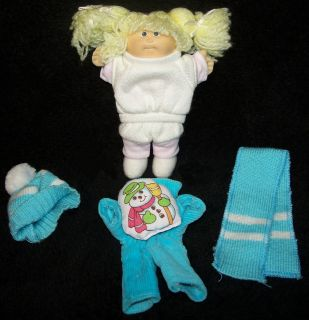 Rare 1984 Coleco Mini 5 Cabbage Patch Kid Doll with 2 Outfits   VGC