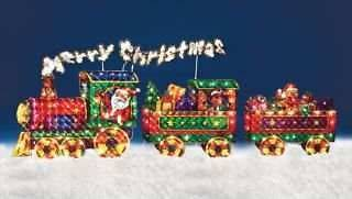 Merry Christmas Train Outdoor Holiday Christmas Yard Decor LAST ONE IN