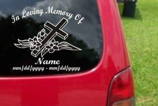 Newly listed 2 Custom In Loving Memory Vinyl Decal