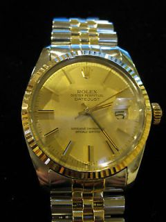 Rolex Oyster Perpetual DateJust Two Tone Stainless Steel & Gold Mens