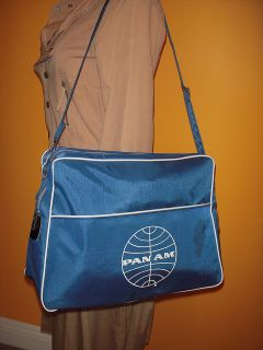 VINTAGE PAN AM TRAVEL BAG SHOULDER BAG