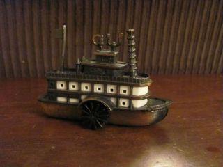 Twain Steam Boat Pencil Sharpener (54A) ~ Metal Pencil Sharpener Boat