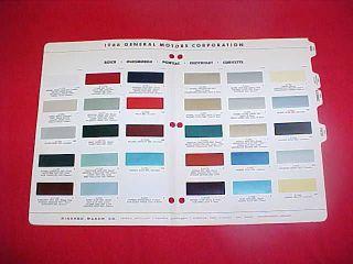 chevrolet paint colors chart in Manuals & Literature