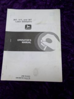 JohnDeere 26T/31T/38T Lawn Sweeper Operators Manual