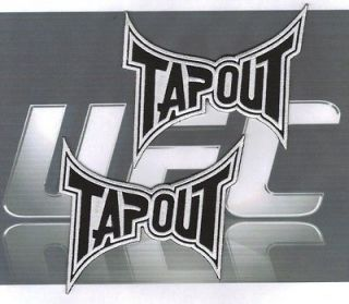 TAPOUT LOGO PATCHES MMA UFC HUGE GI PATCH 4 x 4  black ops 2