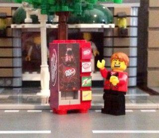 LEGO City Custom Town Train Dr Pepper Vending Machine made from LEGO(R