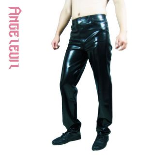 Angelevil Brand Handmade Latex Clothing Rubber Pants Jeans #04001