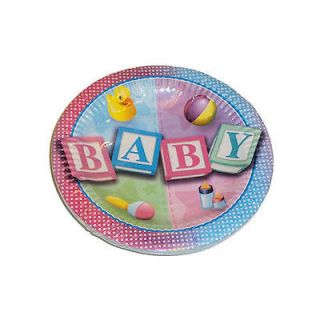 16 pack of Baby Shower Party 7 inch Paper Plates