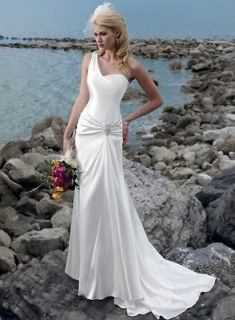 Chiffon White/Ivory Single aglet Wedding dress size6 8 10 12 14 16