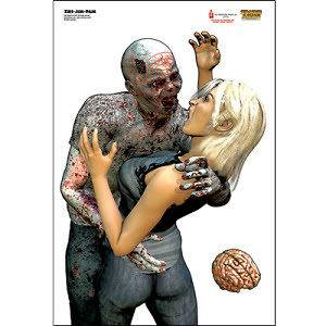 Large Paper Poster Zombie Shooting TARGETS  Great mix , set of 12