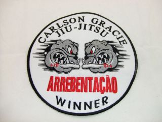 CARLSON GRACIE WINNER LARGE PATCH BJJ MMA VALE TUDO FIGHT JIU JITSU