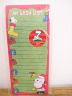 Peanuts Snoopy Woodstock My Wish List magnetic list pad 60 sheets