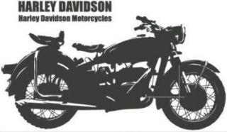Harley Motorcycles Wall Decor Vinyl Sticker Decal Removable DIY Art