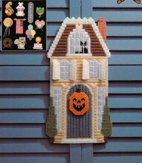 HOLIDAY HOUSE PLASTIC CANVAS PATTERN FROM ALL STARS
