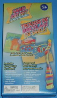 New Sand Art Kit Lot Bottle Pattern Cards Funnel Childrens Craft Gift