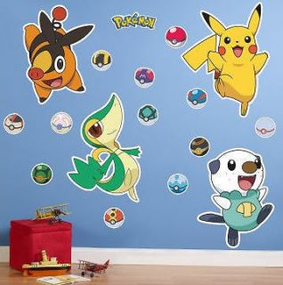 and White Giant Wall Stickers 18 decals Pikachu light switch cover
