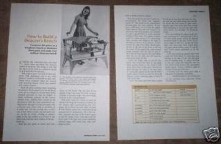 VINTAGE 1975 PLANS~BUILD A DEACONS BENCH TELEPHONE
